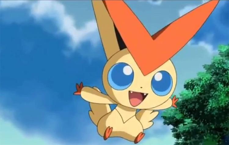 Victini legendary Pokemon from the anime
