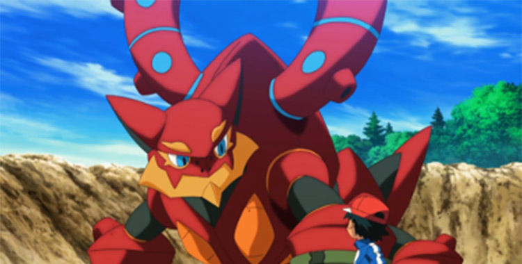 Volcanion in the Pokemon anime