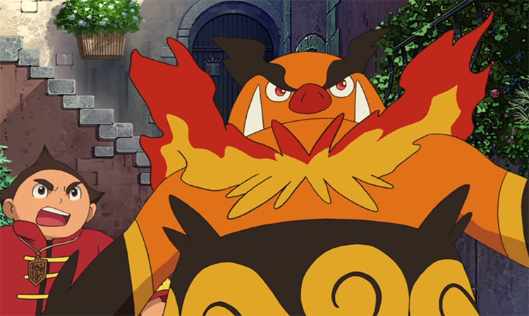 Emboar in Pokemon anime