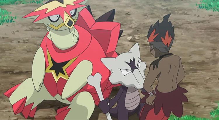 Turtonator Alola region Pokemon - anime screenshot