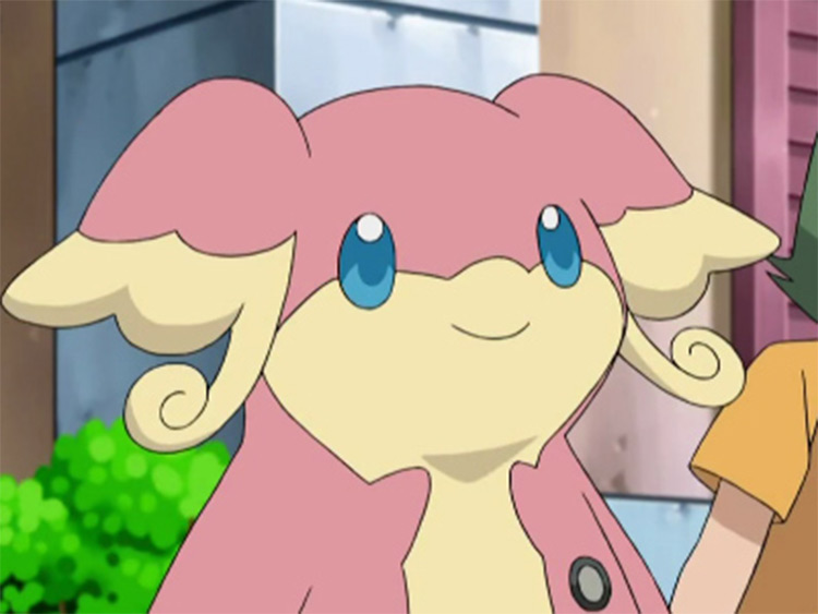 Audino pink monster in the anime