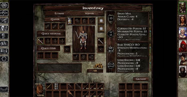 Icewind Dale game screenshot