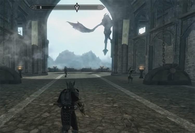 Call Dragon shout in TES 5 Skyrim