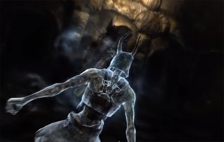 Ice Form shout in Skyrim